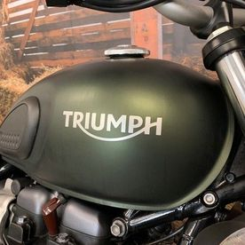 motorcycle fuel tank with brand name