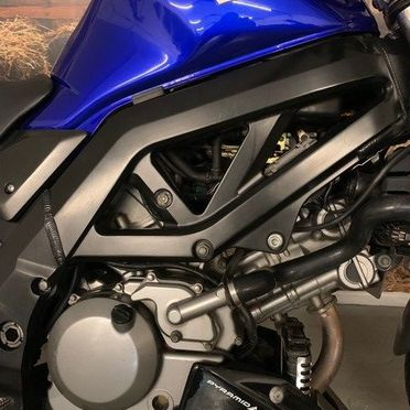 motorcycle clutch cover and side cowl view